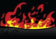 halftone пожара Стоковое Фото