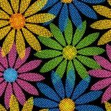 halftone цветка предпосылки Стоковое Изображение