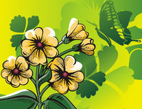 halftone предпосылки флористический Стоковое Изображение