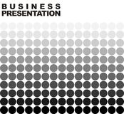 Halftone. Business presentation background template Stock Images