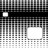 Halftone Abstract Background. Abstract halftone dot background of rounded rectangles with copyspace Royalty Free Stock Photo