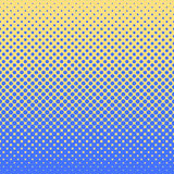 Halftone abstract background in blue and complement colors. Halftone abstract background of circular elements in blue and complement colors and in the direction Royalty Free Stock Photography