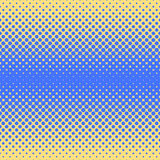 Halftone abstract background in blue and complement colors. Halftone abstract background of circular elements in blue and complement colors and in the direction Stock Photo