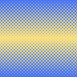 Halftone abstract background in blue and complement colors. Halftone abstract background of circular elements in blue and complement colors and in the direction Royalty Free Stock Images