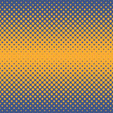 Halftone abstract background in orange and complement colors. Halftone abstract background of circular elements in orange and complement colors and in the Stock Photography