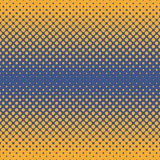 Halftone abstract background in orange and complement colors. Halftone abstract background of circular elements in orange and complement colors and in the Royalty Free Stock Images
