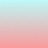Halftone abstract background in rose and complement colors. Halftone abstract background of circular elements in rose and complement colors and in the direction Stock Photos