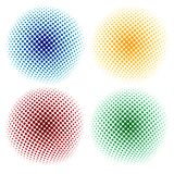 Halftone abstract background. Vector illustration Royalty Free Stock Photos