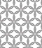 Halftone Abstract Flowers Geometric Vector Seamless Pattern. Stock Images