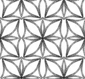 Halftone Abstract Flowers Geometric Vector Seamless Pattern. Royalty Free Stock Photography