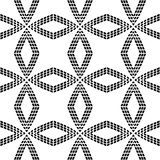 Halftone Abstract Geometric Vector Seamless Pattern. Stock Images