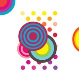 Halftone abstracte achtergrond vector illustratie