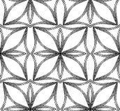 Halftone abstrakt Kwitnie Geometrycznego Wektorowego Bezszwowego wzór. Fotografia Royalty Free