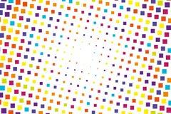 Halftone achtergrond Abstract geometrisch patroon met kleine vierkanten Ontwerpelement voor Webbanners, affiches, kaarten, behang Royalty-vrije Stock Foto's