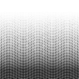 Halftone achtergrond van punten in golvende regeling Zwart-wit onderst-hoogste gradiënt Abstract retro stijl vectorbehang Stock Fotografie