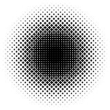 Halftone als element van kruisen Monochromatisch abstract beeld Royalty-vrije Stock Fotografie