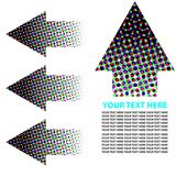Halftone Arrow Circle. Text Room Royalty Free Stock Images