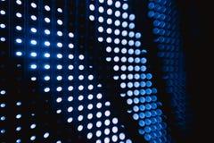 Halftone błękitni zamazani dowodzeni światła Fotografia Royalty Free