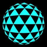 Halftone błękitny okrąg Fotografia Royalty Free