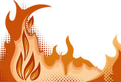 Halftone background. Fire. Vector illustration Stock Images