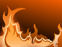 Halftone background. With gradient- Fire. Vector illustration Stock Images