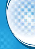 Halftone background blue Stock Photography