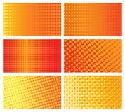 Halftone background cards set. Vector design elements stock illustration
