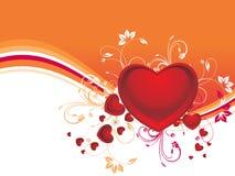 Halftone background with decor heart illustration Stock Image