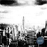Halftone Background Design - New York Skyline Stock Photos