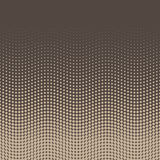 Halftone background of dots in wavy arrangement. Beige-brown bottom-top gradient. Abstract retro coffee style vector. Wallpaper Royalty Free Stock Images