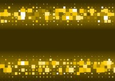 Halftone background made of gold squares. Festive vector pattern for christmas and holiday design. Luxery shining geometric texture Royalty Free Stock Images