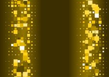 Halftone background made of gold squares. Festive vector pattern for christmas and holiday design. Luxery shining geometric texture Stock Photography