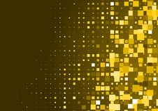 Halftone background made of gold squares. Festive vector pattern for christmas and holiday design. Luxery shining geometric texture Stock Photos
