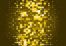 Halftone background made of gold squares. Festive vector pattern for christmas and holiday design. Luxery shining geometric texture Royalty Free Stock Photography
