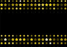 Halftone background made of gold stars. Festive vector pattern for christmas and holiday design. Luxery shining geometric texture Royalty Free Stock Photo