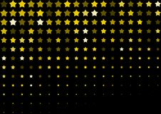 Halftone background made of gold stars. Festive vector pattern for christmas and holiday design. Luxery shining geometric texture Stock Photography