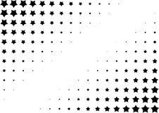 Halftone background made of stars vector illustration
