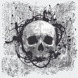 Halftone background with a skull Royalty Free Stock Image