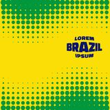 Halftone Background using Brazil flag colors. Abstract Bright Halftone Background using Brazil flag colors, vector illustration Royalty Free Stock Photography