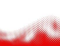 Halftone background wave