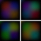 Halftone backgrounds. Set of colorful halftone effect backgrounds vector Stock Photography
