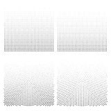 Halftone backgrounds set. Halftone dots vector illustration. vector illustration