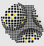 Halftone balls abstract background Stock Photos