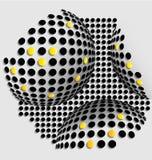 Halftone balls abstract background. For creative design tasks Royalty Free Illustration
