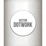 Halftone Banner with Black Dots. Dotwork Engraving Background. Vector Illustration royalty free illustration