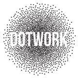 Halftone Banner with Black Dots. Dotwork Engraving Background. Vector Illustration vector illustration