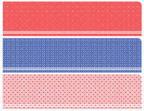 Halftone banners Royalty-vrije Stock Afbeelding