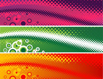 Halftone banners Stock Images