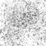 Halftone black dots over white background Royalty Free Stock Images