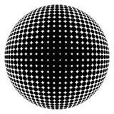 Halftone black sphere Stock Photos